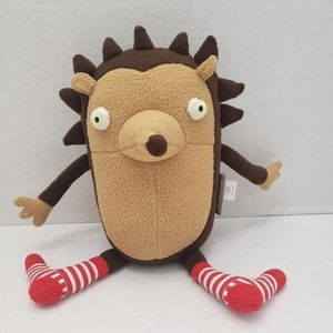 The Land of Nod hedgehog w Stripe Christmas socks